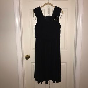Dress Barn Collections: Black Chiffon Ruched Dress
